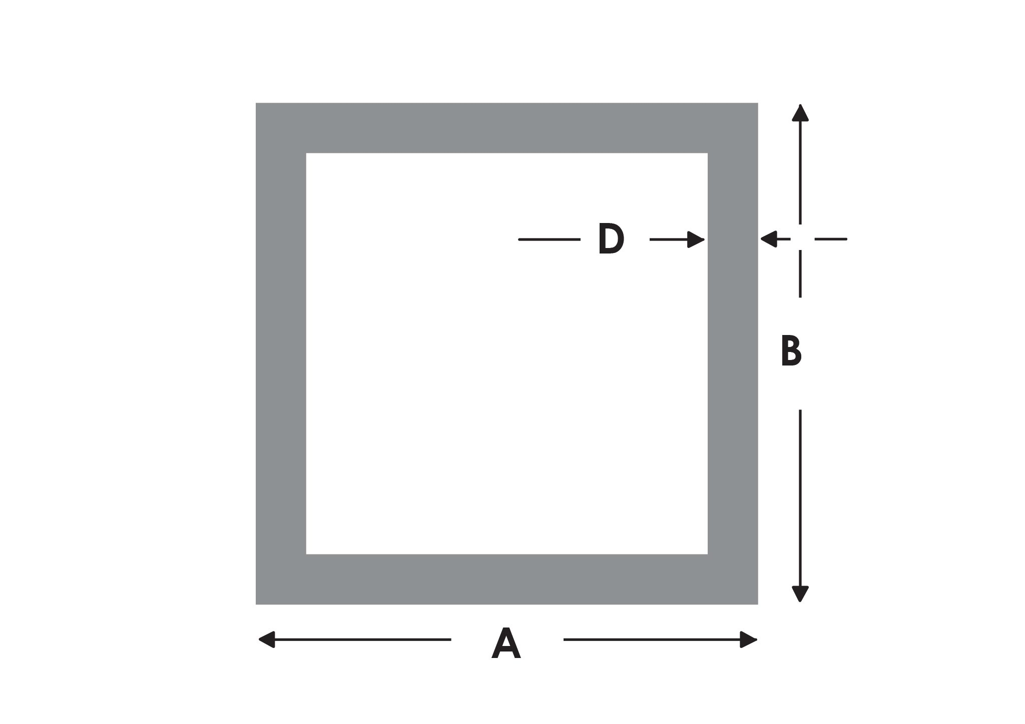 Aluminium Rechteckrohr AW-6060-60x20x2mm auf Zuschnitt 2,5cm L: 25mm