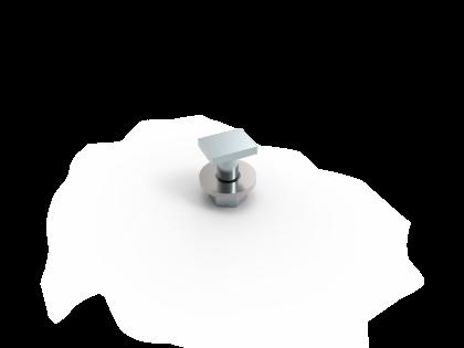 Hamerkop M6x12 rechthoekig +R+M RVS