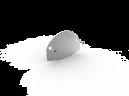SlimLine S-2 Eindkap L/R brute (E+2S)