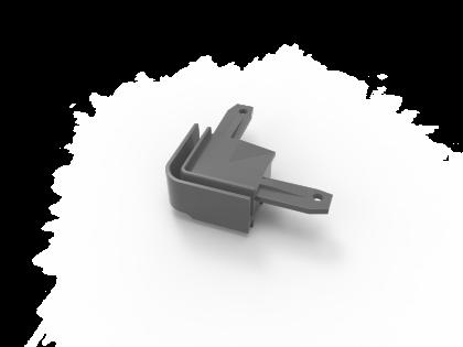 T-Flex® kunststof hoekst. grijs (H+2I) in combi met 137154