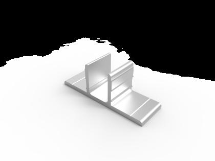 Steun-houder 25 mm zonder gaten ( 107055 )