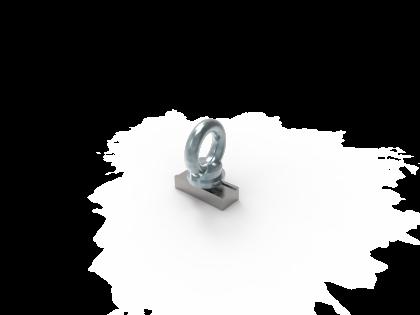 Oogbout M8 RVS + ring + blok