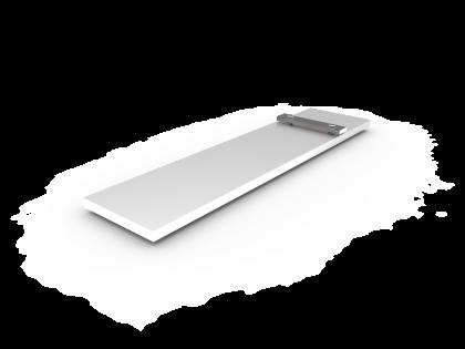 Voet Wand-Basic Aluminium vom-1 (+2B) L: 223mm