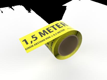 Rol afstand houden tape 50 mm - 66 m. DE