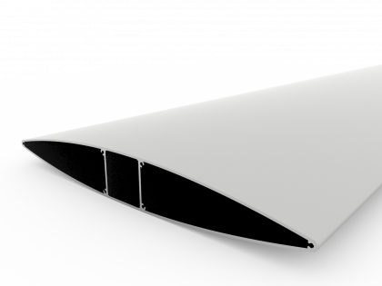 Pyloon / Lamel 500mm brute Lengte: 4000mm