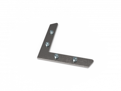 Hoekverbinder L staal inbus (H+4i)