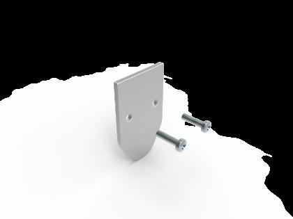Aluminium eindkap 40x 25 vom-1 (E+2S)
