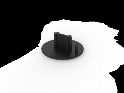 Kunststof eindkap 138660/62 zwart