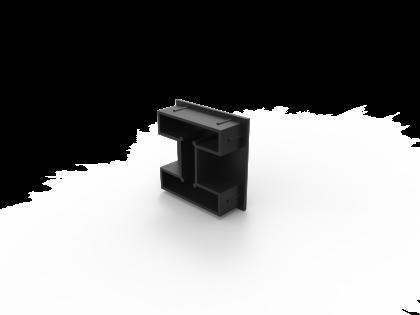 Terras 50 Kunststofdop zwart