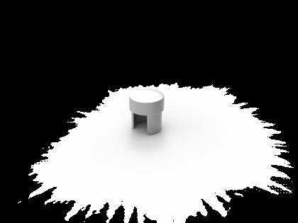 Connecta Eindkap Aluminium brute