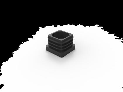 SquareFix 25 insteekdop V-25x25 zwart