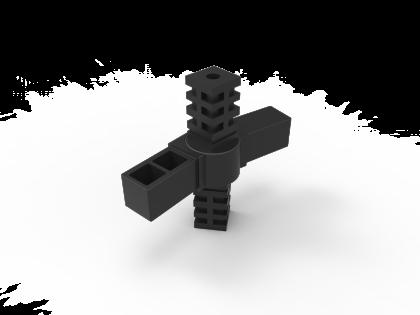 SquareFix 25 4-wegstuk 180º scharnier