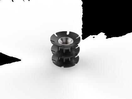 Staal insert M6 [106030] 25x20 L22 mm (3R)