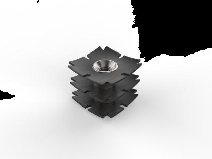 Staal insert M8 [107110] 40x40x2,0 L22 mm (3R)